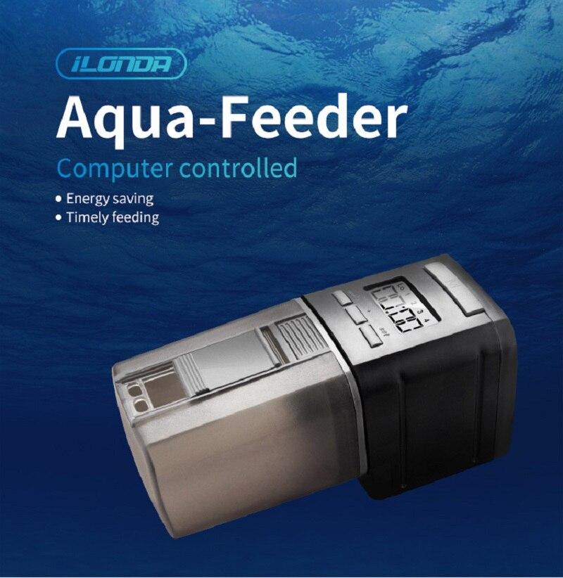Automático inteligente de peces de acuario de Aqua-alimentador oportuna de alimentación de tanque de peces con pantalla LCD indica acuario Accesorios