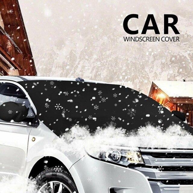 магнитный козырек для лобового стекла автомобиля от снега 210*125 фотография