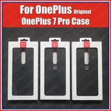 Final Voorraad Oneplus 7 Pro Case Zandsteen Nylon Carbon Bumper Officiële Oneplus 7Pro Originele 3D Gehard Glas Screen Protector