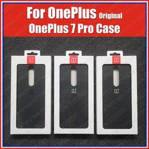 Image 1 - Финальный сток OnePlus 7 Pro Чехол песчаник нейлон углеродный бампер официальный OnePlus 7Pro Оригинальное 3D закаленное стекло Защита экрана