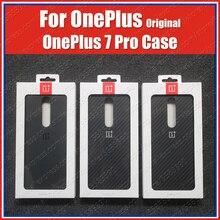 Son stok OnePlus 7 Pro vaka kumtaşı naylon karbon tampon resmi OnePlus 7Pro orijinal 3D temperli cam ekran koruyucu