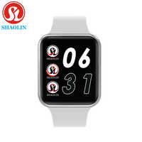 Boîtier de montre intelligente Bluetooth pour Apple iOS iPhone Xiaomi téléphone intelligent Android (bouton rouge)