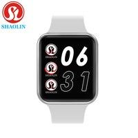 Bluetooth relógio inteligente smartwatch caso para apple ios iphone xiaomi android telefone inteligente (botão vermelho)