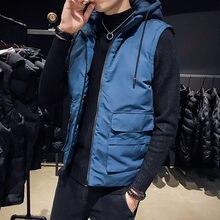 Новый стиль мужской жилет осень зима хлопковое пальто Корейская