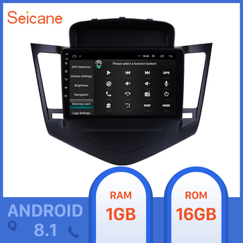 Seicane for 2013 2014 2015 Chevrolet Cruze 9inch Android 8.1 HD 1024*600 Touchscreen Radio with GPS Navigation Bluetooth SWC