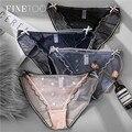 FINETOO Transparente Spitze Unterwäsche Sexy Frauen Höschen S-L Damen Unterhose Niedrige Taille Panty Mode Mädchen Briefs Dessous 2021