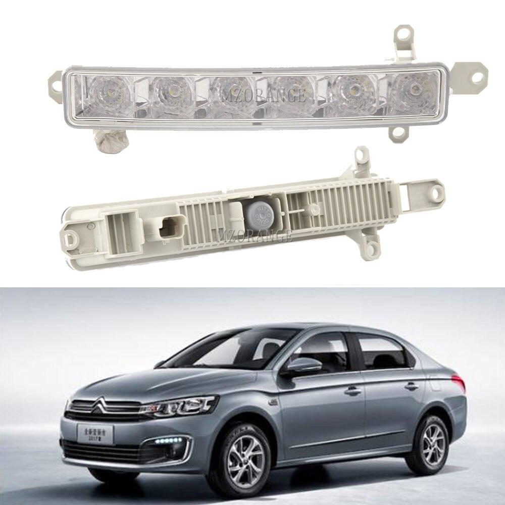 LED DRL Headlight For Citroen C-Elysee Berlingo B9 C1 C3 MK2 2005-2020 Fog Lights Fog Light For Peugeot 308 2013-2020 9802795580