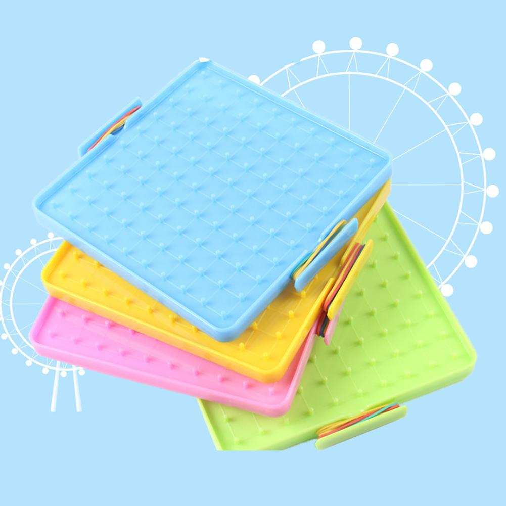 4Pcs 16x16cm Double-Sided Array Nail Geoboards Children Educational Toy Gift  Plastic Nail Board Student Teaching Double-sided