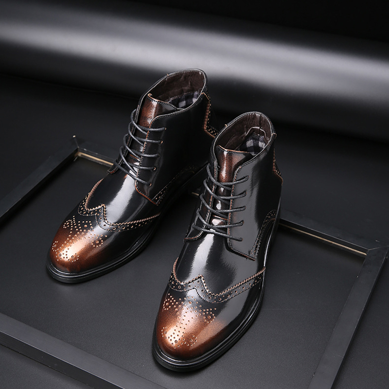 38-48 Leather Boots Men Comfortable Brand Fashion 2019 Men Shoes #SY769