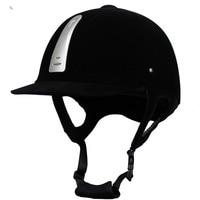 Equestrian Helmet Unisex Classic Velvet Horse Riding Helmet Horse Equipment Cycling Helmet Protection Cap 54-62cm Adjustable 1