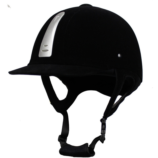 Equestrian Helmet Unisex Classic Velvet Horse Riding Helmet Horse Equipment Cycling Helmet Protection Cap 54-62cm Adjustable 1