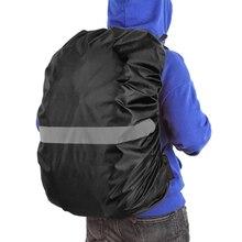 Черный рюкзак дождевик со светоотражающей полоской Женская Мужская водонепроницаемая сумка дождевик для велоспорта кемпинга пешего туризма альпинизма
