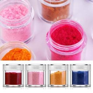 10 Colors Fuzzy Flocking Velvet Nail Powder Colorful Glitter Dust For Manicure DIY UV Gel Polish Nail Art Tips Decoration