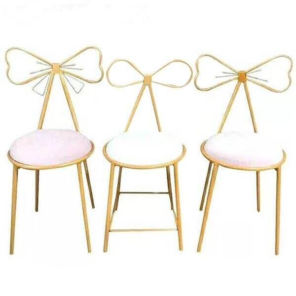 M8 Modern Minimalist Dining Room Chair Princess Girl Heart Dressing Table Chair Nordic Back Net Red Makeup Chair European Chair
