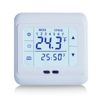 Junejour Home Thermoregulator Touch Screen Heating Thermostat For Warm Floor Electric Heating System Temperature Controller eu programmable touch screen electric floor heating thermostat wiht double sensor