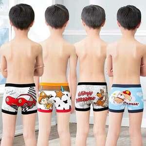 Ventilate Underwear Boxers Kids Cute Baby's Cartoon Pure-Cotton Soft Boys 6pcs/Lot 2-10Y