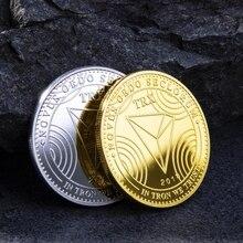 Юбилейные Монеты TRX виртуальные металлические Юбилейные Монеты TRX монеты Биткоин памятные монеты подарок Прямая поставка