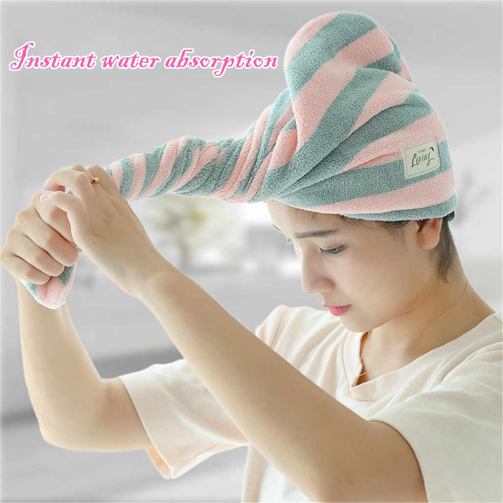 Wrapped Towel Bathing Cap Magic Microfiber Hair Fast Drying Dryer Towel Bath Wrap Hat Quick Cap Rapided Drying Hair Towel