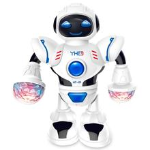 Rotating Smart Space Dance Robot Electronic Walking Toys With Music Light Astron