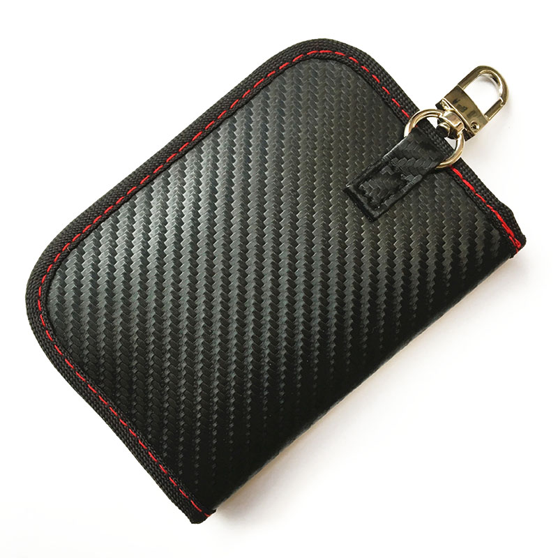 Car-Key-Card-Bag Keychain Signal-Blocker-Case Blocking-Bag Keyless RFID 1pc with Fob-Pouch title=