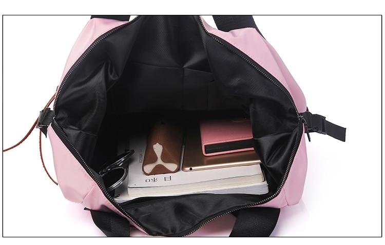 H4e50cf059dad458f9a6001455236eebbF Casual Nylon Waterproof Backpack Women High Capacity Travel Book Bags for Teenage Girls Students Pink Satchel Mochila Bolsa 2019