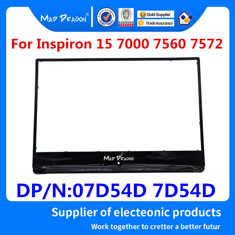 MAD DRAGON Brand NEW laptop LCD Front Bezel Cover for <font><b>Dell</b></font> <font><b>Inspiron</b></font> <font><b>15</b></font> <font><b>7000</b></font> 7560 7572 LCD Bezel BKA50 07D54D 7D54D AP1Q2000100 image