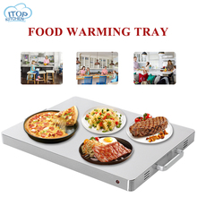Food Warming Tray Induction Cooker Heat Preservation Board Stainless Steel Buffet Electric 400W Household Intelligent Machine
