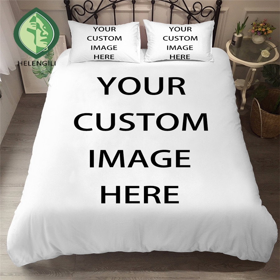 1 SET Provide Pictures We Can Customize 3D Bedding Set  Print Any Size Duvet Cover Sets Real Effect Lifelike