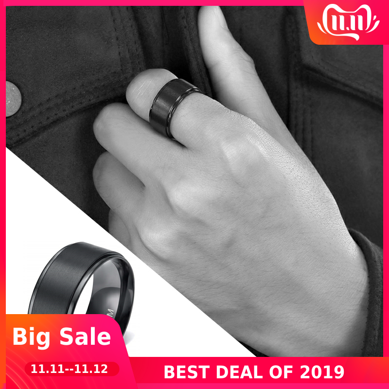 Tigrade 10mm Man Black Ring Titanium Cool Wide Finger Band Forefinger Rings Unisex Personalized anillo hombre anel masculino