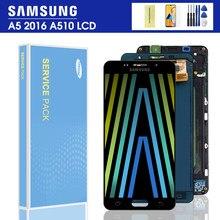 Сменный ЖК-дисплей A510F для SAMSUNG Galaxy A5 2016 A510 A510FD A510M A510Y, ЖК-дисплей с сенсорным экраном и дигитайзером в сборе
