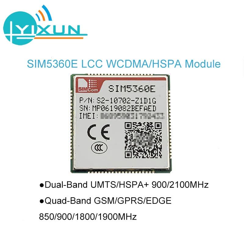 SIMCOM SIM5360E Dual-Band WCDMA/HSDPA Quad-Band GSM/GPRS/EDGE Module SMT Type 900/2100MHz 850/900/1800/1900MHz