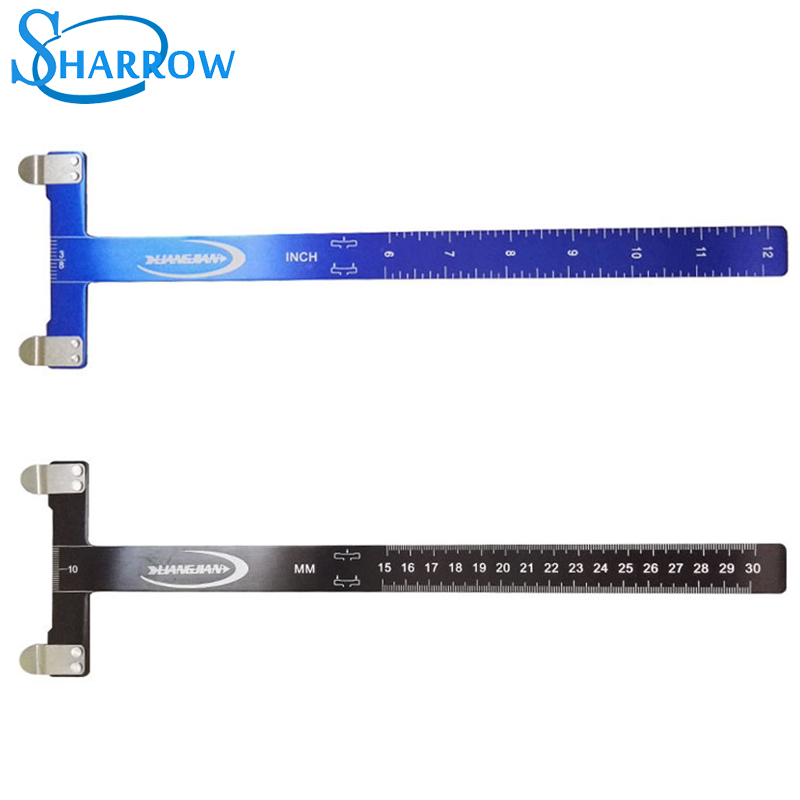 Archery Bow T Ruler High quality metalSquare Brace Height Measure for Recurve Compound Hunting Accessory