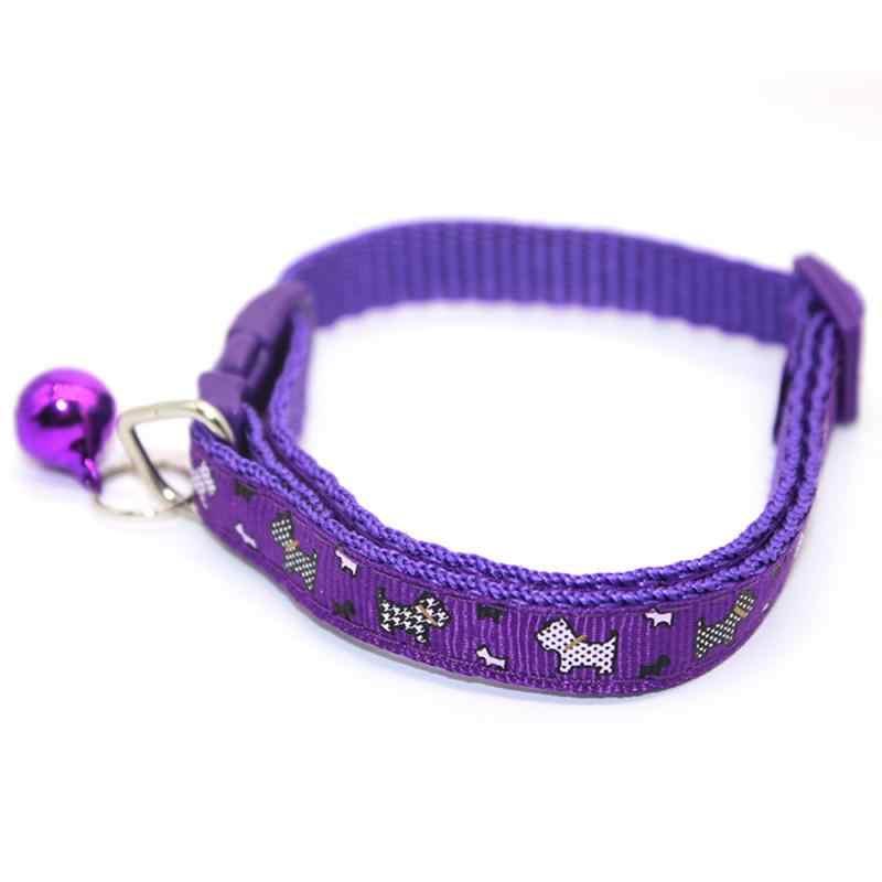 Regulowany miękkiej nylonowej małe średnie duże obroże dla psów kot domowy obroże z dzwoneczkami kolorowy naszyjnik szczeniak akcesoria dla zwierząt TSLM2