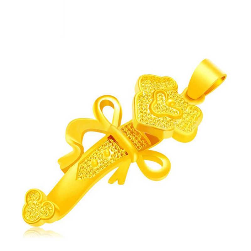 Nowy mosiądz 24K biżuteria szczęście wisiorek złoto biżuteria ustalenia DIY akcesoria do bransoletki
