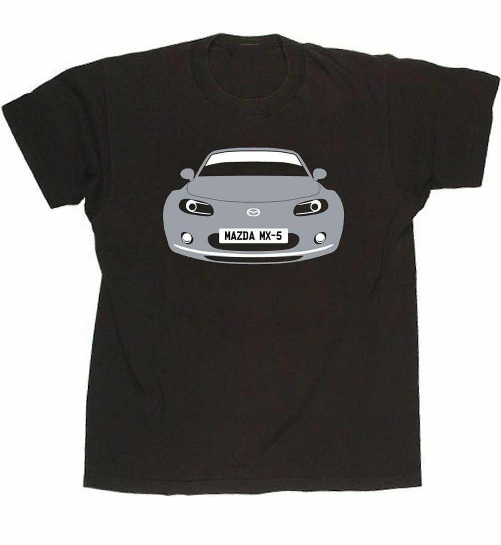 カスタム Htees Tシャツ-マツダ Mx-5 Mx5 (ロードスターユーノスロードスター) 車のカラー & プレートゆったりサイズの Tシャツ