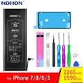 NOHON батарея для Apple iPhone 7 8 6 5 iPhone7 iPhone8 iPhone6 iPhone5 6G 7G 8G Замена литий-полимерный Мобильный телефон Bateria