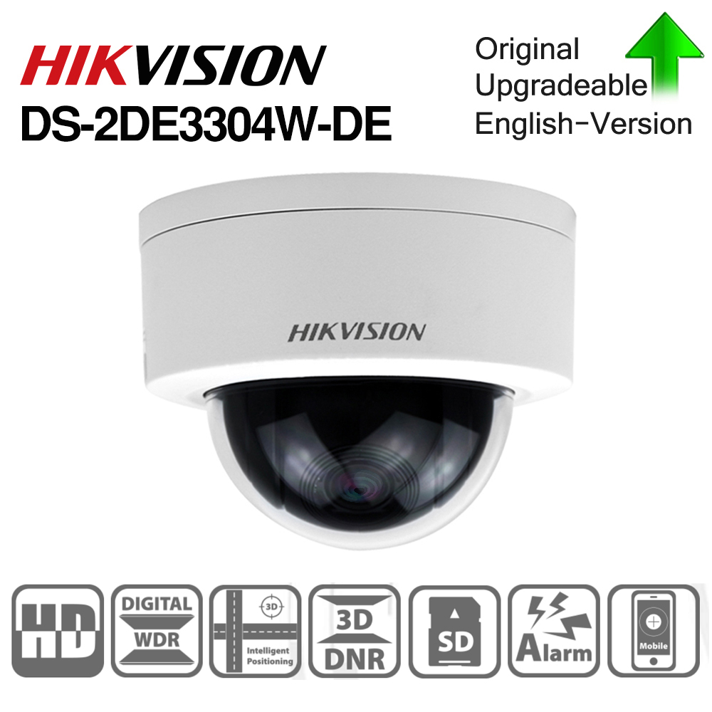 Hikvision Original PTZ Cam DS-2DE3304W-DE 3MP IP Network Mini Dome Camera 4X Optical Zoom 2-way Audio Support Ezviz Remote View
