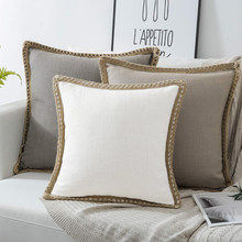 Luxury Pillowcase Solid Color Sofa Linen Throw Cushion Cover for Living Room Pillow case Car Seat Chair Decor 45x45/50x50cm