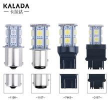 KALADA Auto Replacement Parts 2 X Waterproof 12v LED Turn Signal S25 BA15S 1156 5050 13SMD Brake lamp back-up Light ??????? ????