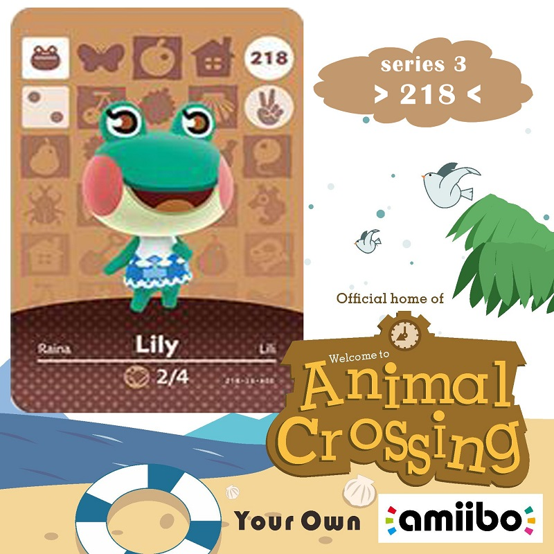 218 Animal Crossing Amiibo Card Lily Amiibo Card Animal Crossing Series 3 Lily Nfc Card Work For Ns Games Fast Shipping