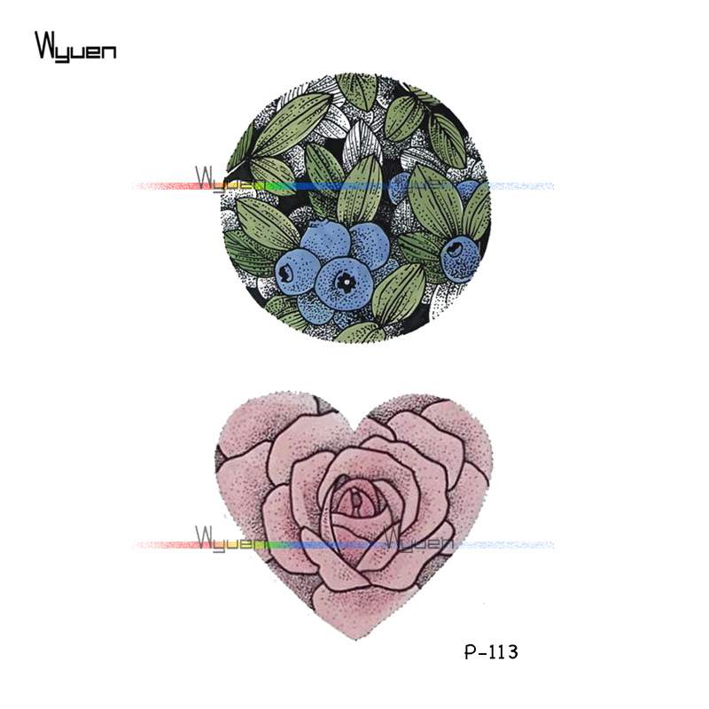 Wyuen Tree Birds Fake Tattoo Flower Temporary Tattoo Stickers for Women Men on Body Art Original Moon Waterproof Tatoos P-129 2