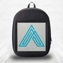 SOL светодиодный Светодиодный экран дисплей рюкзак DIY Беспроводной Wi-Fi приложение контроль рекламный рюкзак открытый светодиодный прогулочный рекламный щит рюкзак