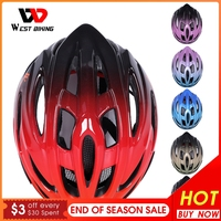WEST RADFAHREN Ultraleicht Fahrrad Helm Einstellbar MTB Road Fahrrad Helm Radfahren Motorrad Sport Männer Frauen Sicherheit Kappe Schutz
