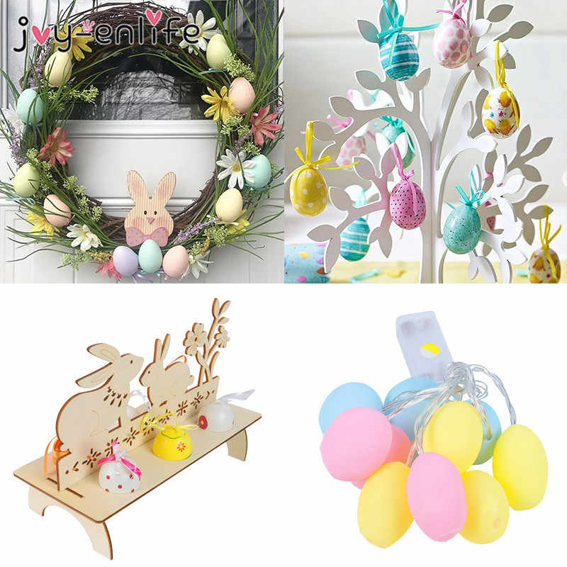 Decorazione di Pasqua Uova di Pasqua Rattan Corona di Natale Porta Ghirlanda di Attaccatura di Parete di Coniglio Ornamenti di Pasqua Decorazione Del Partito per I Bambini a Casa