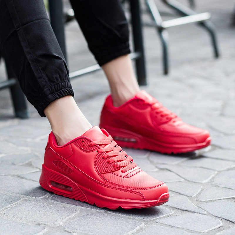 Ayakkabı kadın ayakkabı nefes örgü rahat spor ayakkabı kadın 2019 sonbahar katı dantel-up takozlar platformu ayakkabı kadın Sneakers