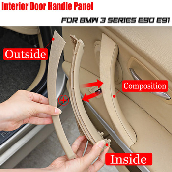 Interior Doors Inner Armrest Handle Panel Pull Trim Cover For BMW 3 series E90 316I 318D 318I E91 320i 323i 325d 51417230853 image
