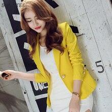 Blazers Vrouwen 2019 Elegante Slanke Leisure Lange Mouwen Dames Blazer All Match Koreaanse Stijl Womens Lange Mouwen Trendy Dagelijks Chic