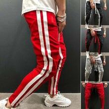 Модные новые уличные спортивные брюки для мужчин повседневная спортивная одежда брюки черные белые модные мужские спортивные брюки в стиле хип-хоп