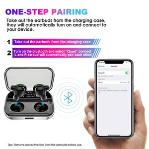 Image 3 - T10 Tws Earphones Wireless Headphone Bluetooth 5.0 Sport Touch Control Wireless Headsets Power Display Earbuds With Charging BOX