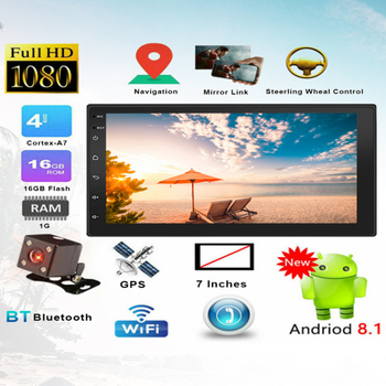 OLOMM 2.5D Android 2din Car Multimedia MP5 Player Radio GPS Navi WIFI Autoradio 7'' Touch Screen Bluetooth FM Audio Car Stereo image